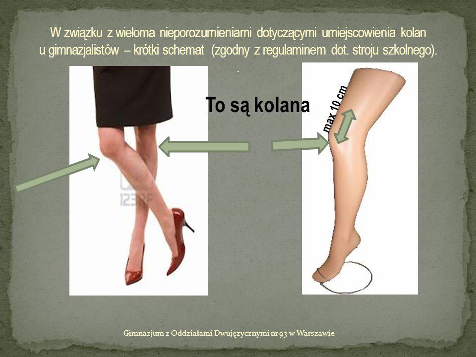 To są kolana max 10 cm