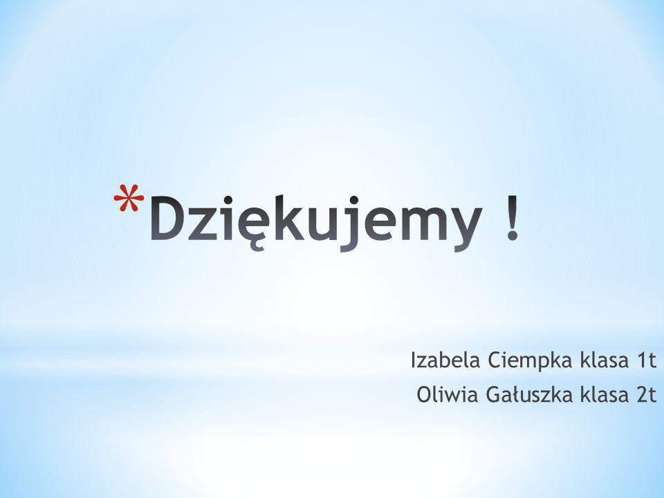 Izabela Ciempka klasa 1t Oliwia Gałuszka klasa 2t