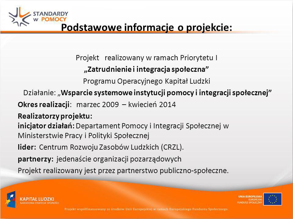 """Podstawowe informacje o projekcie: Projekt realizowany w ramach Priorytetu I """"Zatrudnienie i integracja społeczna"""" Programu Operacyjnego Kapitał Ludzk"""