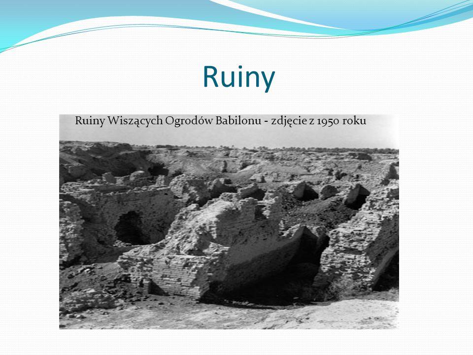 Ruiny Ruiny Wiszących Ogrodów Babilonu - zdjęcie z 1950 roku