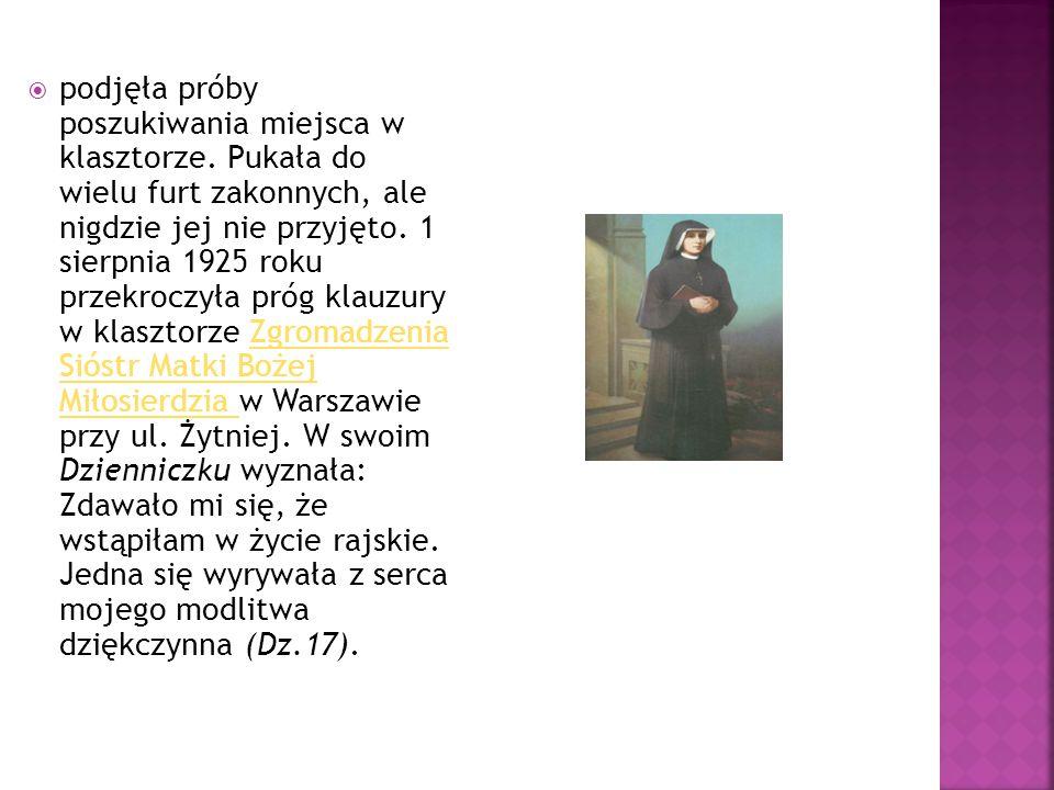  Zupełnie wyniszczona fizycznie, ale w pełni dojrzała duchowo, mistycznie zjednoczona z Bogiem, zmarła w opinii świętości 5 października 1938 roku, mając zaledwie 33 lata, w tym 13 lat życia zakonnego.