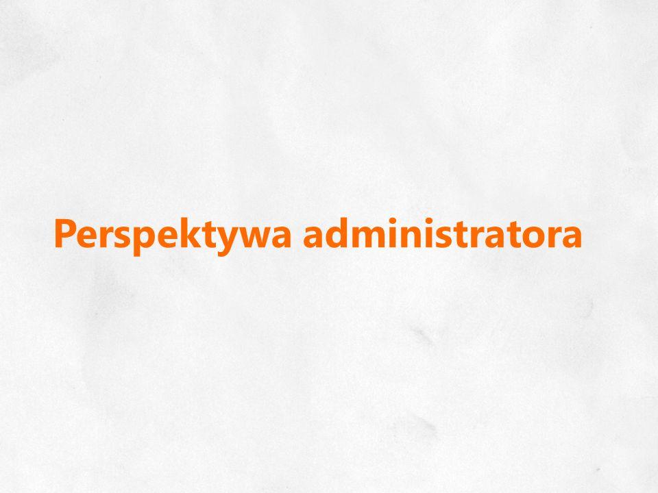 Perspektywa administratora