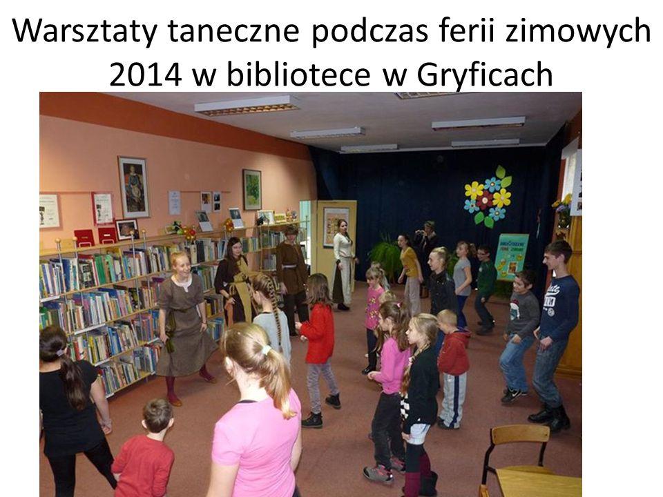 Warsztaty taneczne podczas ferii zimowych 2014 w bibliotece w Gryficach