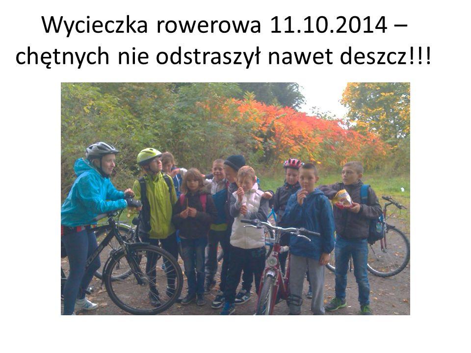 Wycieczka rowerowa 11.10.2014 – chętnych nie odstraszył nawet deszcz!!!