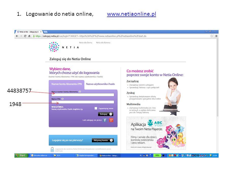 1.Logowanie do netia online, www.netiaonline.plwww.netiaonline.pl 44838757 1948