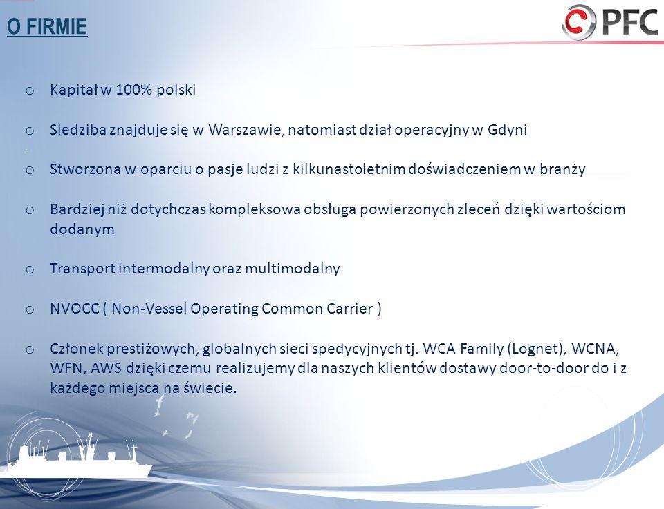 O FIRMIE o Kapitał w 100% polski o Siedziba znajduje się w Warszawie, natomiast dział operacyjny w Gdyni o Stworzona w oparciu o pasje ludzi z kilkuna