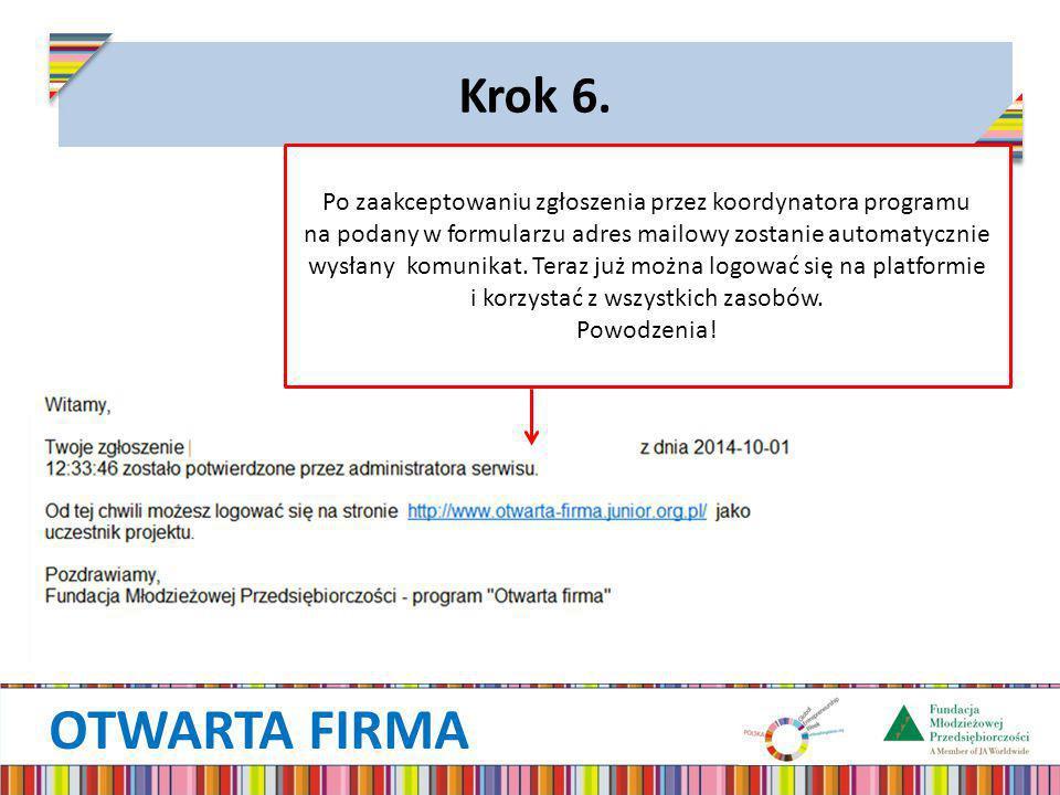 OTWARTA FIRMA Krok 6.
