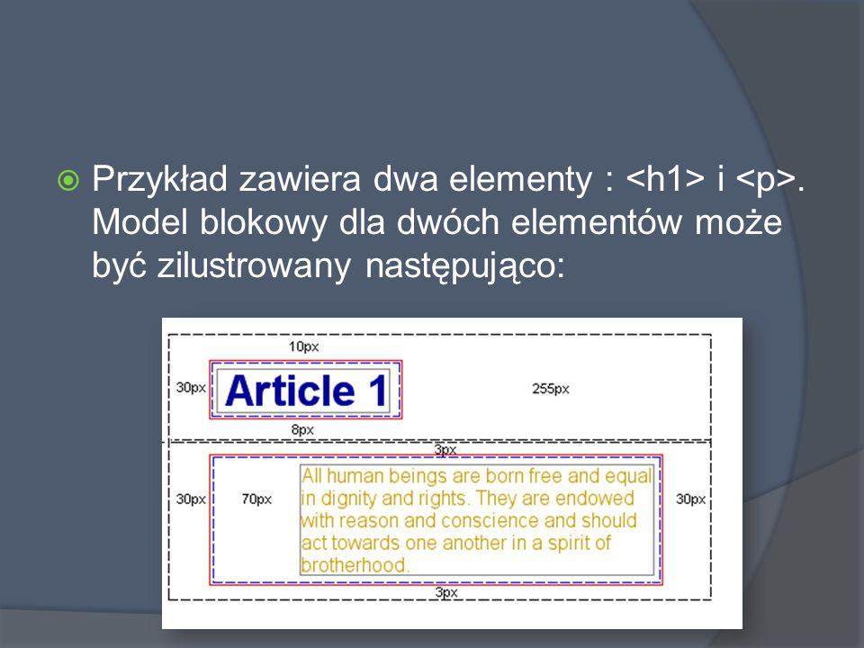  Przykład zawiera dwa elementy : i.