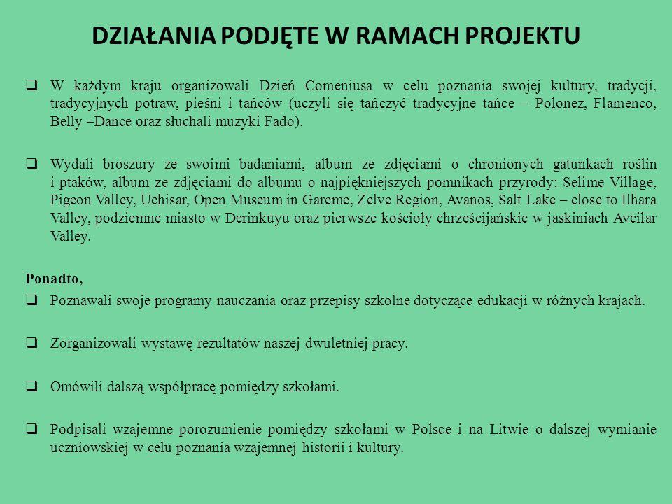 NASZE MOBILNOŚCI Realizacja projektu trwała od IX 2012 do VII 2014 roku.