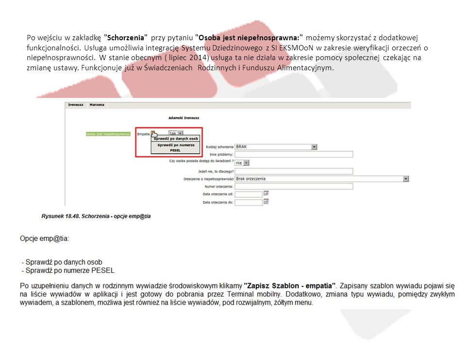 Weryfikacja występowania osób w bazie KRS, CEIDG.