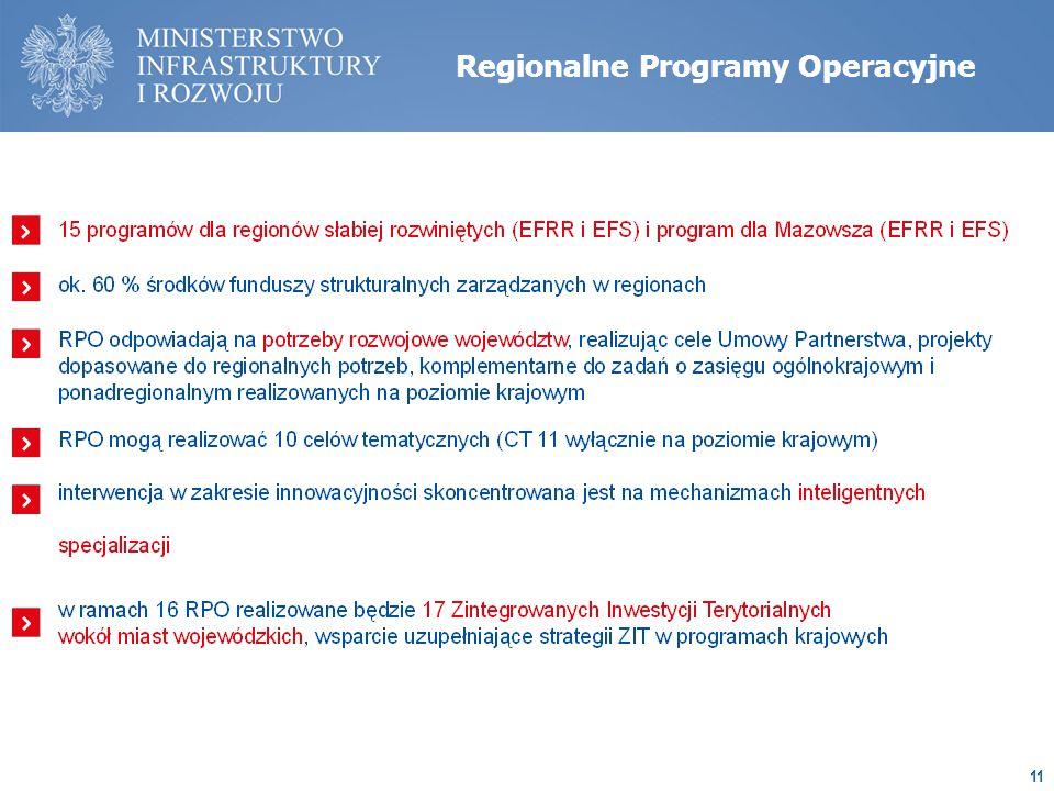 11 Regionalne Programy Operacyjne