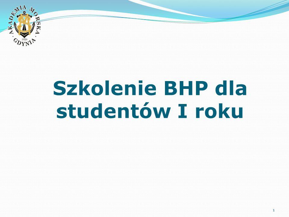 Szkolenie BHP dla studentów I roku 1