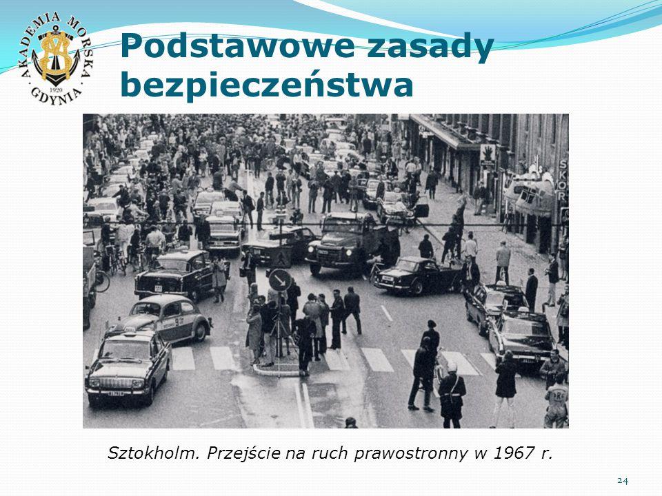 Podstawowe zasady bezpieczeństwa 24 Sztokholm. Przejście na ruch prawostronny w 1967 r.