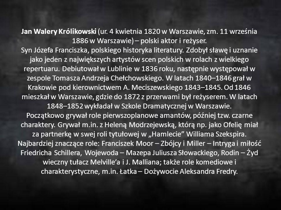 Jan Walery Królikowski (ur. 4 kwietnia 1820 w Warszawie, zm. 11 września 1886 w Warszawie) – polski aktor i reżyser. Syn Józefa Franciszka, polskiego