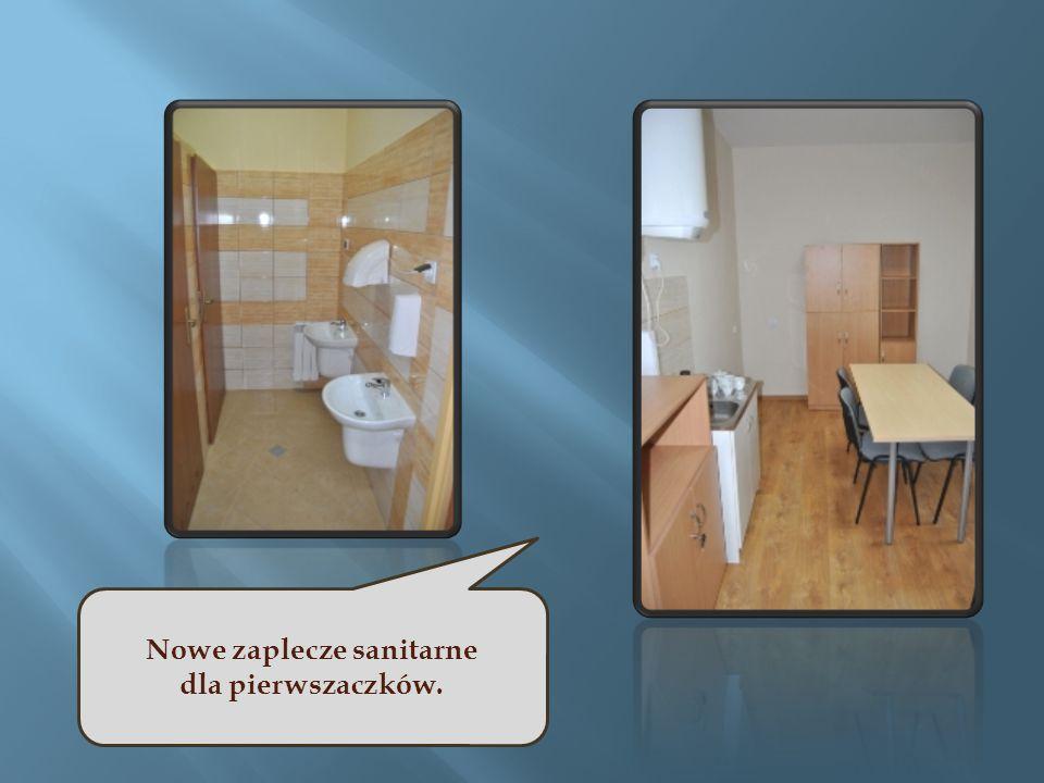 Nowe zaplecze sanitarne dla pierwszaczków.