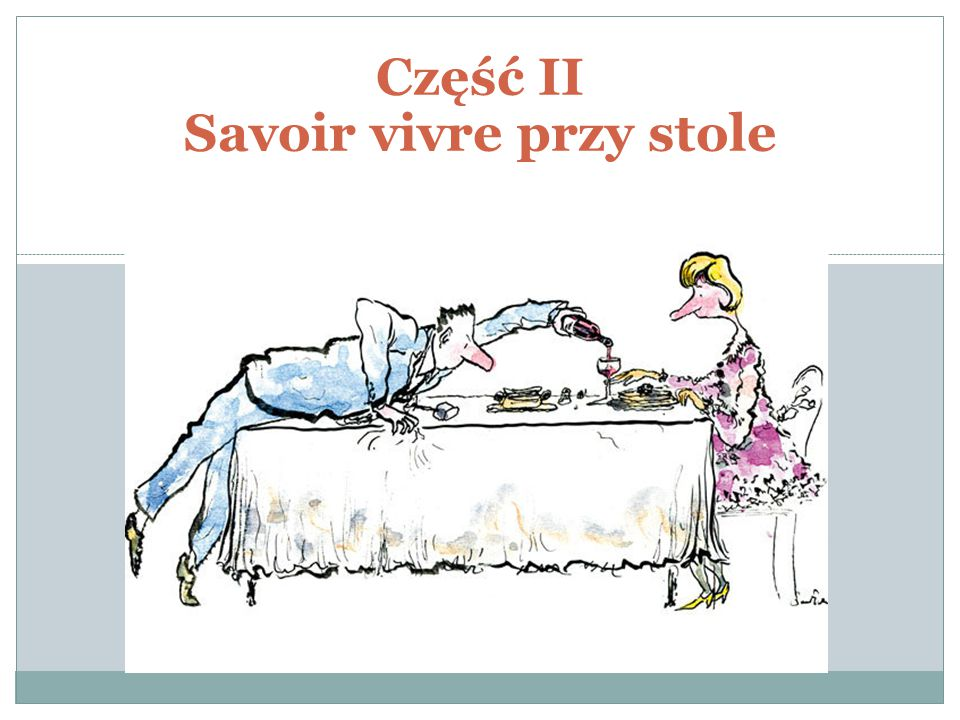 Część II Savoir vivre przy stole