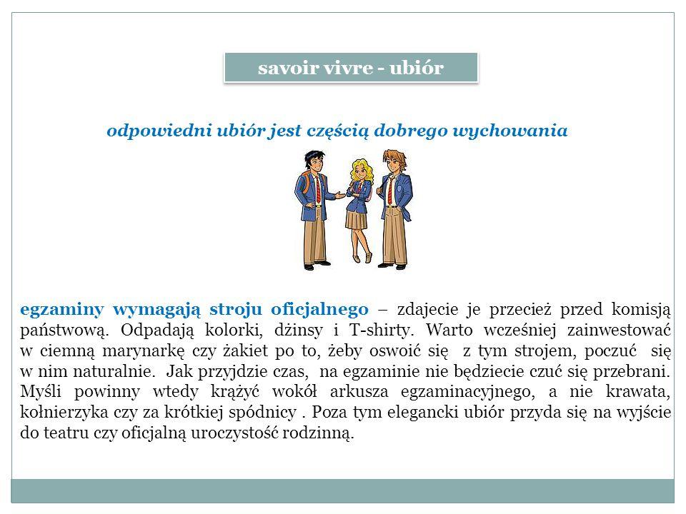 egzaminy wymagają stroju oficjalnego – zdajecie je przecież przed komisją państwową.