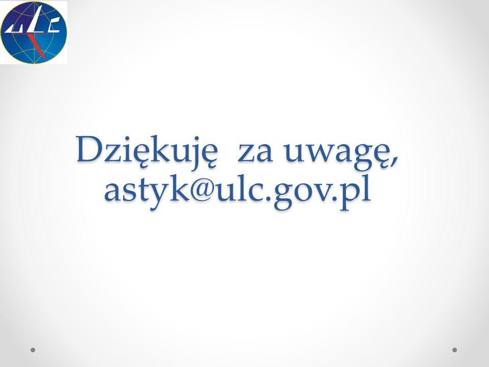 Dziękuję za uwagę, astyk@ulc.gov.pl