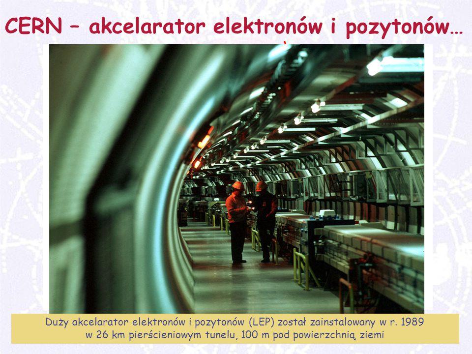 M. Turała17CERN, 31 marzec 2008 CERN – akcelarator elektronów i pozytonów… Duży akcelarator elektronów i pozytonów (LEP) został zainstalowany w r. 198