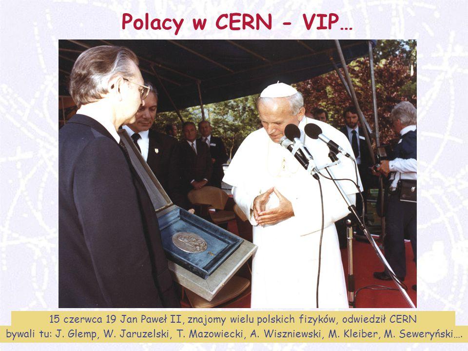 M. Turała41CERN, 31 marzec 2008 Polacy w CERN - VIP… 15 czerwca 19 Jan Paweł II, znajomy wielu polskich fizyków, odwiedził CERN bywali tu: J. Glemp, W