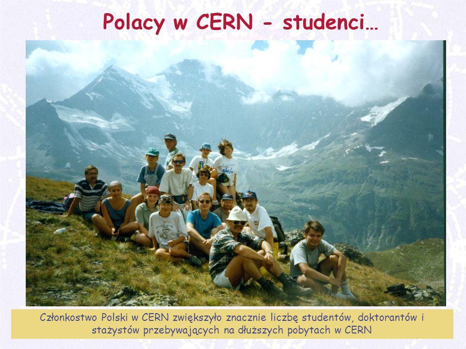 M. Turała42CERN, 31 marzec 2008 Polacy w CERN - studenci… Członkostwo Polski w CERN zwiększyło znacznie liczbę studentów, doktorantów i stażystów prze