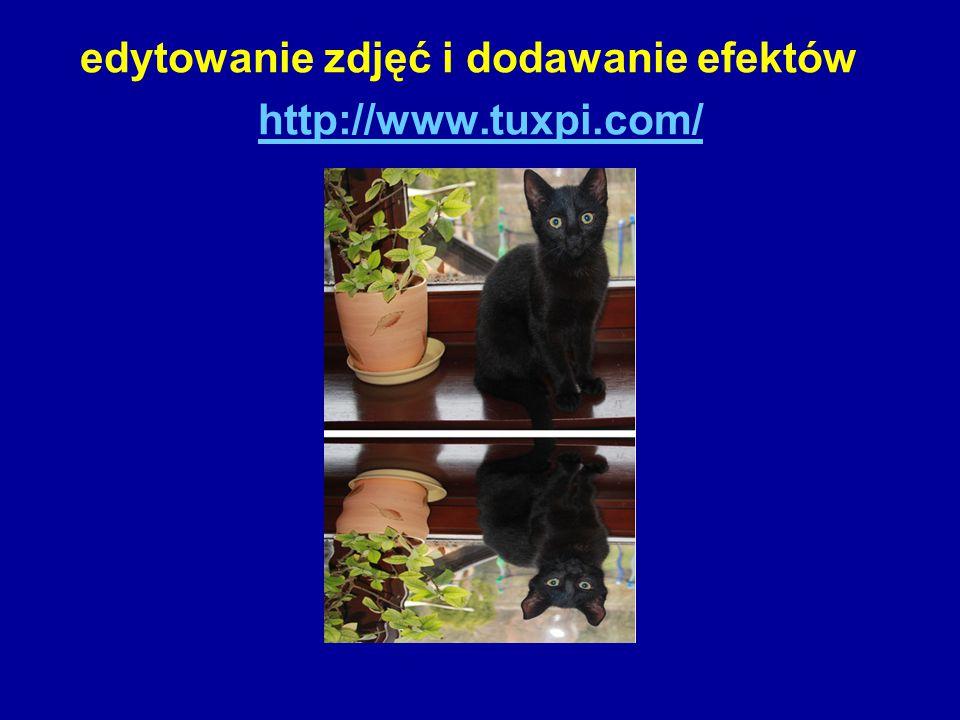 edytowanie zdjęć i dodawanie efektów http://www.tuxpi.com/ http://www.tuxpi.com/