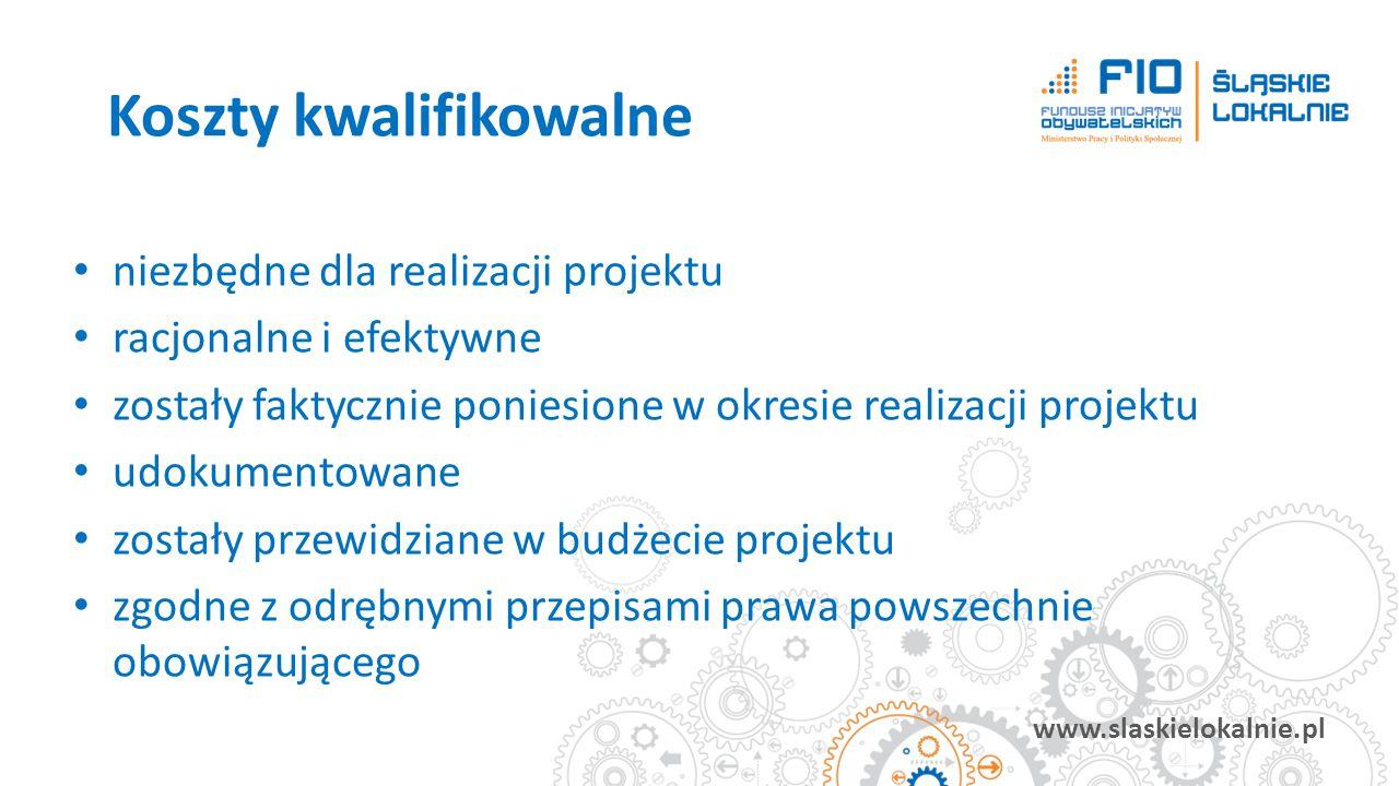 www.slaskielokalnie.pl niezbędne dla realizacji projektu racjonalne i efektywne zostały faktycznie poniesione w okresie realizacji projektu udokumento