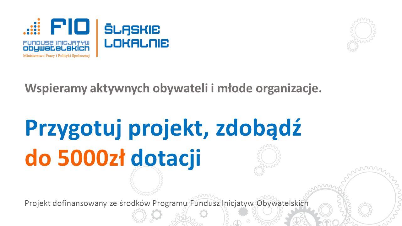 Wspieramy aktywnych obywateli i młode organizacje. Przygotuj projekt, zdobądź do 5000zł dotacji Projekt dofinansowany ze środków Programu Fundusz Inic