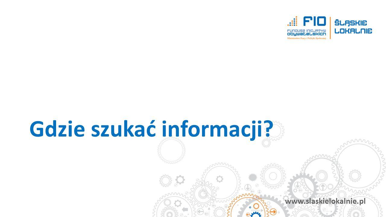 www.slaskielokalnie.pl Gdzie szukać informacji?