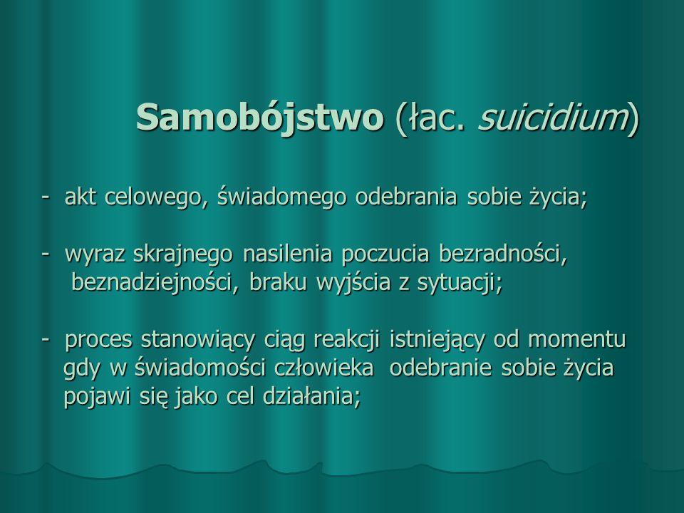PRZECIWWSKAZANIA W KONTAKCIE Z OSOBĄ ZAGROŻONĄ Zbyt szybkie ocenianie- etykietowanie Zbyt szybkie ocenianie- etykietowanie Powoływanie się na swój system wartości Powoływanie się na swój system wartości Lekceważenie problemów osoby zagrożonej samobójstwem Lekceważenie problemów osoby zagrożonej samobójstwem Zbyt szybkie kończenie kontaktu np.