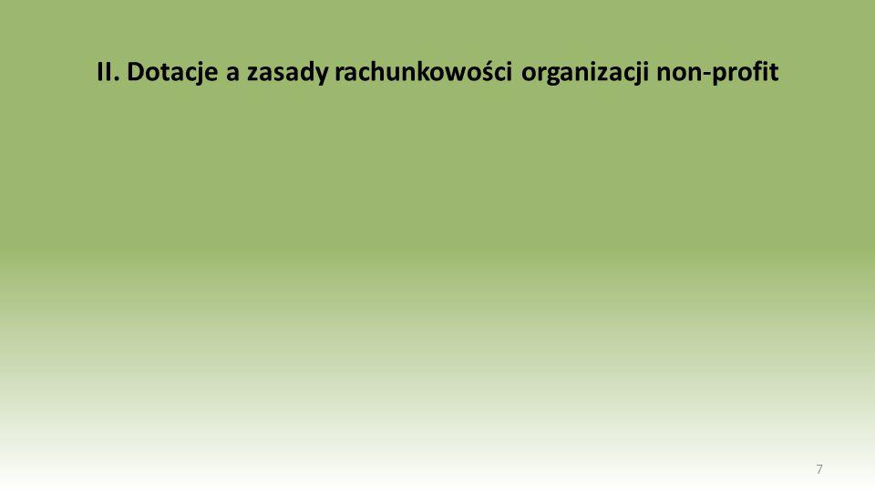 II. Dotacje a zasady rachunkowości organizacji non-profit 7