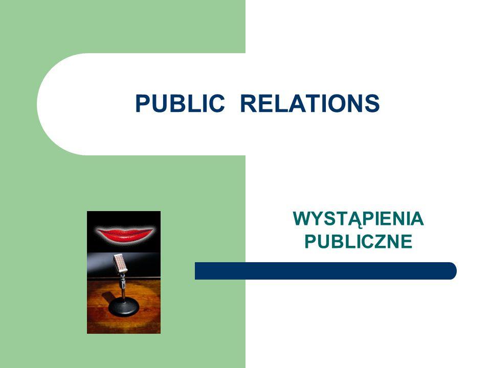 PUBLIC RELATIONS WYSTĄPIENIA PUBLICZNE