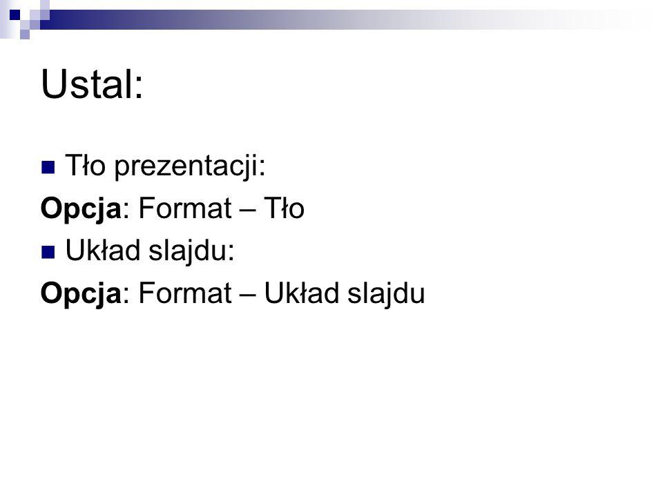 Cechy dobrej prezentacji 1.Temat prezentacji powinien być krótki i jasny.