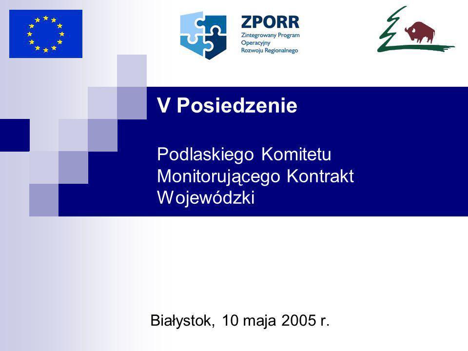 Realizowane projekty w podziale na powiaty (Priorytet I i III) – stan na 31 III 2005 r.
