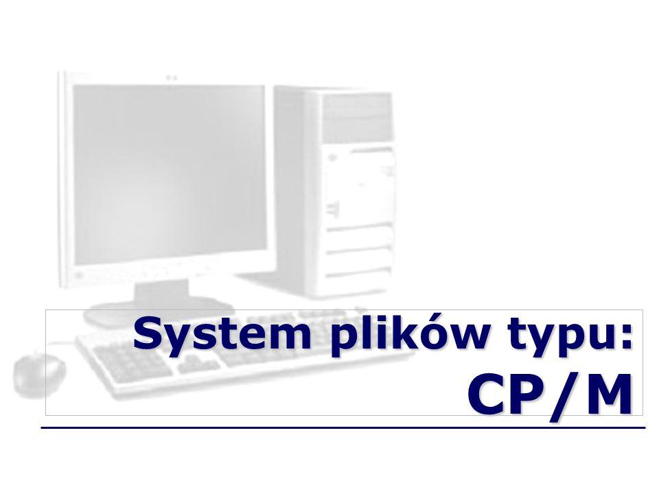 System plików typu: CP/M