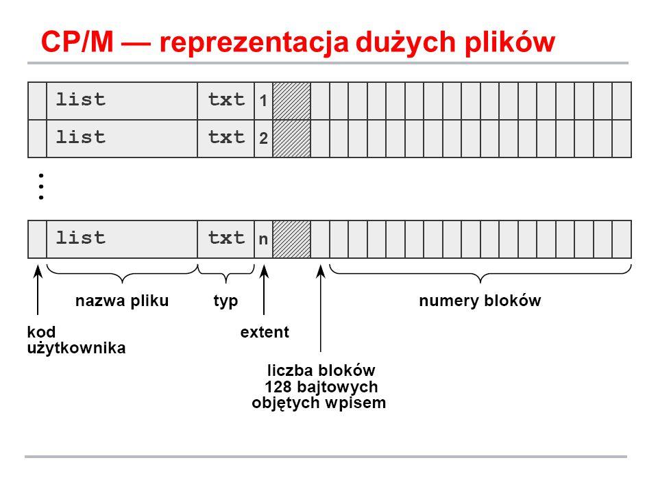 CP/M — reprezentacja dużych plików