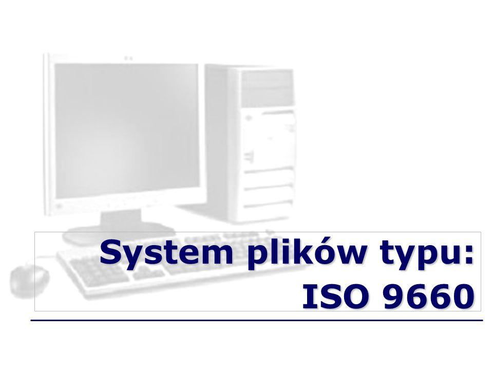 System plików typu: ISO 9660