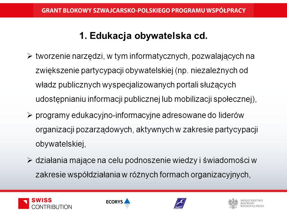 1. Edukacja obywatelska cd.