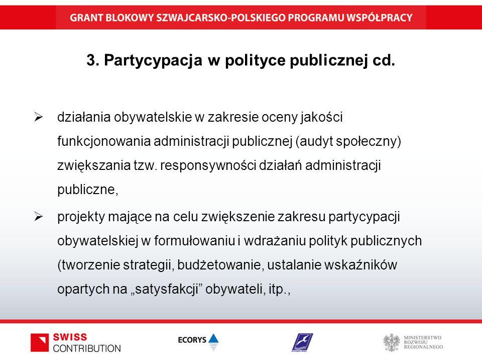3. Partycypacja w polityce publicznej cd.