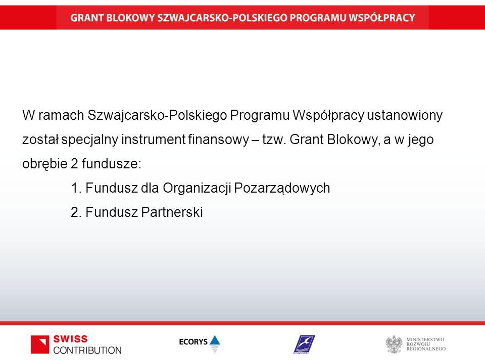 W ramach Szwajcarsko-Polskiego Programu Współpracy ustanowiony został specjalny instrument finansowy – tzw.
