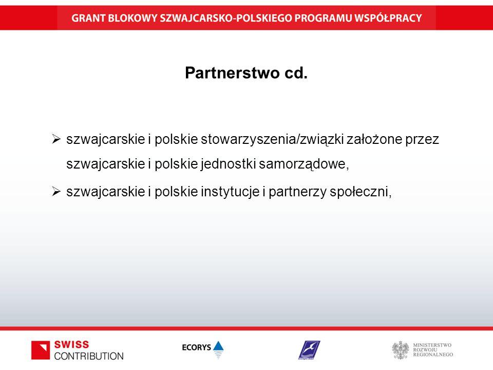Partnerstwo cd.