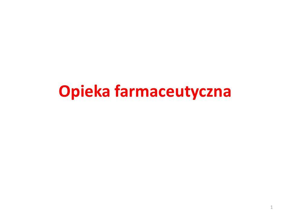 Definicja opieki farmaceutycznej Termin opieka farmaceutyczna po raz pierwszy pojawił się w 1975 r.