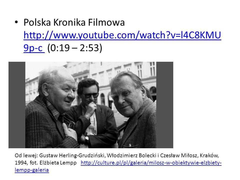 Polska Kronika Filmowa http://www.youtube.com/watch?v=l4C8KMU 9p-c (0:19 – 2:53) http://www.youtube.com/watch?v=l4C8KMU 9p-c Od lewej: Gustaw Herling-