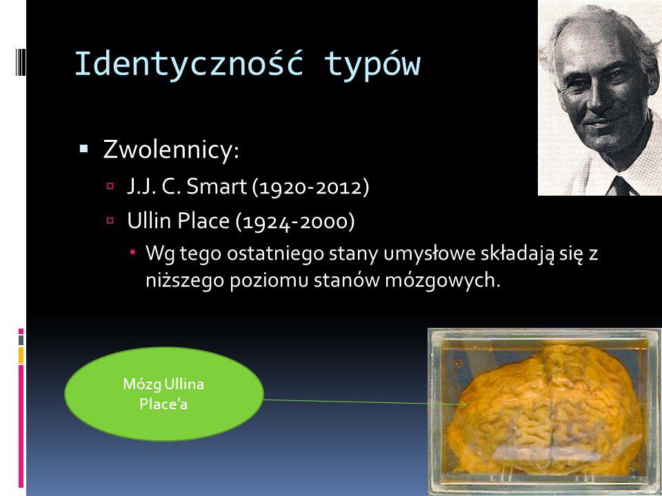 Identyczność typów  Zwolennicy:  J.J.C.