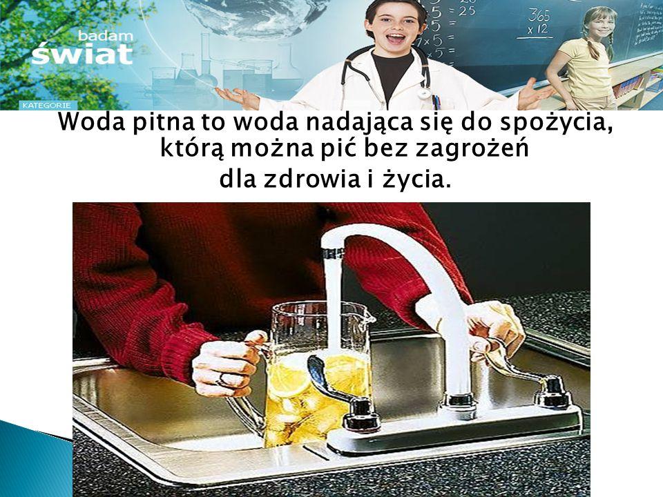 Jakość wody jest kontrolowana aż do waszego wodomierza.