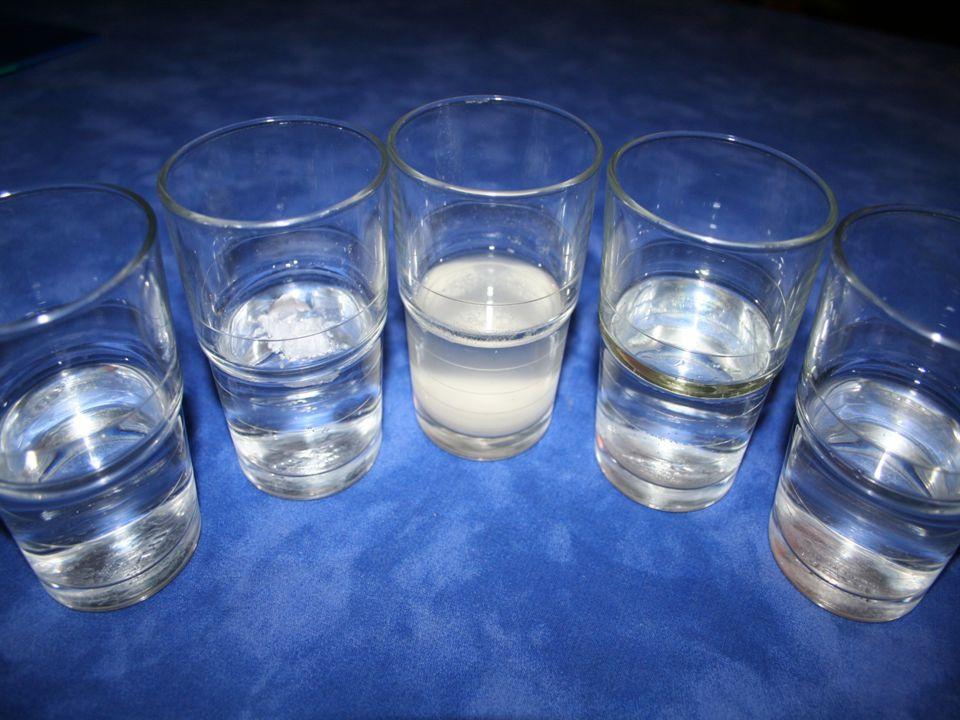 Mieszanie się różnych substancji w wodzie. Przeprowadziłem kolejne badanie.