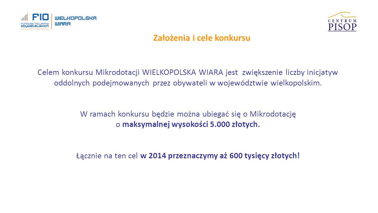 Ile może wynieść wartość projektu.Mikrodotacje to maksymalnie 5000 złotych.