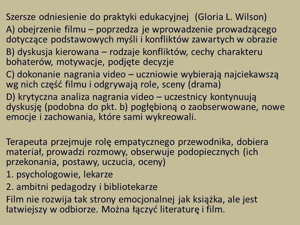 Szersze odniesienie do praktyki edukacyjnej (Gloria L.
