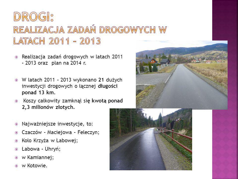  Realizacja zadań drogowych w latach 2011 – 2013 oraz plan na 2014 r.