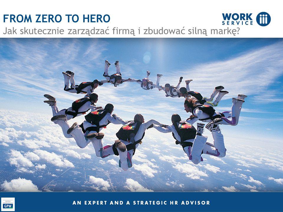FROM ZERO TO HERO Jak skutecznie zarządzać firmą i zbudować silną markę ?
